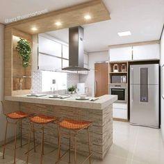 ✔ 68 suprising small kitchen design ideas and decor that you will suprised 30 in 2020 Kitchen Room Design, Home Decor Kitchen, Interior Design Kitchen, Kitchen Furniture, Kitchen Ideas, Kitchen Small, Kitchen Modern, Kitchen Grey, Diy Interior