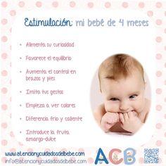 Estimulación para mi bebé de 4 meses #atencionycuidadosdelbebe #estimulacion
