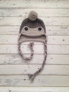 Crochet Baby Boy Eskimo Hat Winter Eskimo Hat by NewYarnCreations