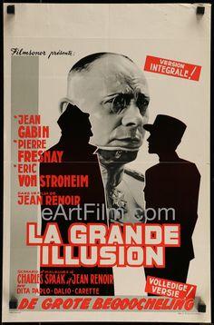 Happy Birthday #JeanRenoir https://eartfilm.com/products/grand-illusion-jean-renoir-eric-von-stroheim-jean-gabin-rare-r1950s-14x21 #director #filmmakers #filmmaking #screenwriters #screenwriting #cinema #LaGranceIllusion #movie #movies #poster #posters #film #cinema #movieposter #movieposters    Grand Illusion-Jean Renoir-Eric Von Stroheim-Jean Gabin-RARE-R1950's-14x21