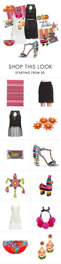 """Vestida para la fiesta"" by dreadreas22 ❤ liked on Polyvore featuring Dash & Albert, Rebecca Minkoff, City Chic, Dolce&Gabbana, Kate Spade and Mercedes Salazar"