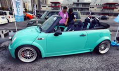 Tiffany Blue Mini Cooper... Um yes please!! Freakin ADORABLE! My dream car. Love my mini, love the vintage and the color