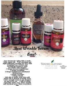 Natural Anti Aging Wrinkle Serum #2.  Made With Young Living Essential Oils and Organic Argon Oil .  Use Daily.