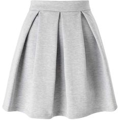 Miss Selfridge Grey Ponte Skater Skirt (57 CAD) ❤ liked on Polyvore featuring skirts and grey