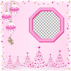 "Layout QP 13A-4 Pink.....Quick Page, Digital Scrapbooking, Christmas Time Collection, 12"" x 12"", 300 dpi, PNG File Format"
