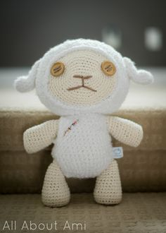 #crochet this adorable little sheep with a free pattern from All About Ami blog