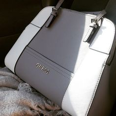 two thumbs up for this stylish GUESS handbag! That smoky gray hue is going to look amazing with all your Fall fashion statements! Fall Handbags, Guess Handbags, Hermes Handbags, Satchel Handbags, Luxury Handbags, Fashion Handbags, Purses And Handbags, Designer Handbags, Fashion Purses