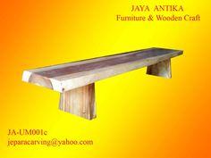Kode Barang : JA-UM001c Nama Barang : Bangku Antik Kotak c  Bangku panjang dari kayu trembesi berbentuk kotak dengan ketebalan 5-7 cm, terbuat dari kayu utuh tanpa sambungan untuk top bangkunya. Kayu trembesi / Meh merupakan salah satu kayu dari d