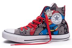 53f4eb1034a0 Discover the Online CONVERSE Chuck Taylor DC Comics Superman Grey Red Print  All Star Canvas Shoes collection at Footlocker. Shop Online CONVERSE Chuck  ...