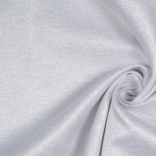 Korean Metallic White and Silver Cotton-Polyester Woven