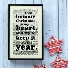 Charles Dickens Christmas Decoration Print......You could tuck this in to the boughs of the Christmas Tree!!!!