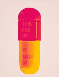 """The Cure, """"Powder Pink- Lollypop Red- Golden Yellow"""" door Damien Hirst - Te huur/te koop via Kunsthuizen.nl"""