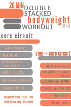 Looking for a new bodyweight workout? This Double Stacked Workout is perfect!