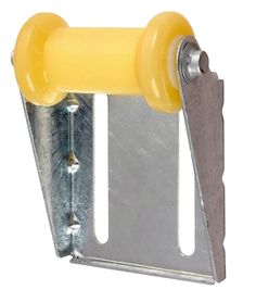 """C.E. Smith Panel Bracket Assembly 5"""" Spool Roller - Yellow TPR - https://www.boatpartsforless.com/shop/c-e-smith-panel-bracket-assembly-5-spool-roller-yellow-tpr/"""