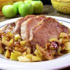 "Caramel Apple Pork Chops Recipe by allrecipes: ""Warm, spicy, and sweet, this wonderful Fall recipe is a guaranteed favorite for kids, and is great with smashed potatoes and buttered green beans."" by Karena #Pork_Chops #Apples #allrecipes"