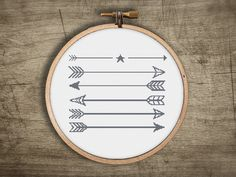 modern cross stitch pattern  geometric arrows  retro by futska