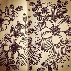 Cecilie Ellefsen's pretty floral sketches