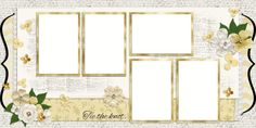 Double Layout Wedding Album Covers Scrapbook pages by EZscrapbooks.com We offer designs in both Physical AND digital formats. Just add photos