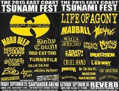 triplecrownconcerts.com / twitter.com/triplecrowncon / twitter.com/ectfest East Coast Tsunami Fest 2015