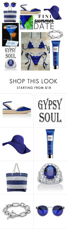 """Summer Date"" by fini-i ❤ liked on Polyvore featuring Paul Andrew, Guerlain, Palm Beach Jewelry, David Yurman and Spitfire"