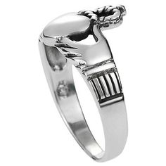 Women's Journee Collection Claddagh Ring in Sterling Silver - Silver6, Size: 6