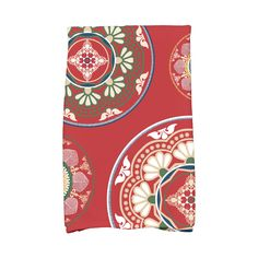 E by Design 16 X 25-inch Medallions Print Hand Towel