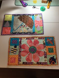 Applique placemats April showers and May flowers
