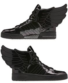 Find Adidas Originals Js Wings Black Patent online or in Airyeezyshoes. Shop Top Brands and the latest styles Adidas Originals Js Wings Black Patent at Airyeezyshoes. Cute Shoes, Me Too Shoes, Jeremy Scott Adidas, Stilettos, Heels, Fashion Shoes, Mens Fashion, Mocassins, Nike Outlet