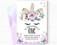 Unicorn invitation, Unicorn birthday invitation, magical invitation, Rainbow Unicorn Birthday Invitation, magical unicorn, Unicorn Purple