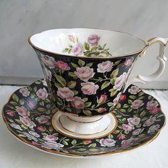 Vintage Chintz teacup by Royal Albert in Merrie England series.