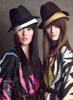 Liu Wen & Jac Jagaciak Get Ready for Fall in Vogue China July 2012 by Patrick Demarchelier