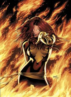 "Jean Grey ""I am fire and life incarnate! Now and forever — I am Phoenix!""  Phoenix, Uncanny X-men #101"