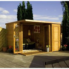 Mercia Wooden Shiplap Combi Summerhouse - 10 x 8ft.