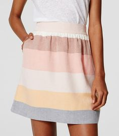Thumbnail Image of Color Swatch 5834 Image of Striped Stroll Skirt