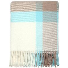 DREAMWOOL Blanket Co. Elegant Check Throw (£50) ❤ liked on Polyvore featuring home, bed & bath, bedding, blankets, colorful throw blanket, colorful bedding, checkered blanket, wool throw blanket and colorful throws