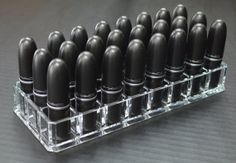 Acrylic Lipstick Organizer with 24 spaces byAlegory CLEAR TRANSPARENT byAlegory .com $14.96