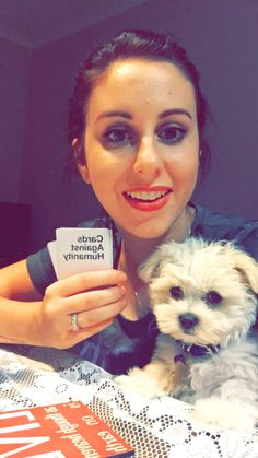 Cards against humanity with puppy