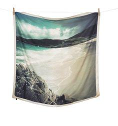 beach silk print scarf, £40.00