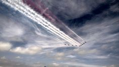 The Red Arrows at the Silverstone GP 2013