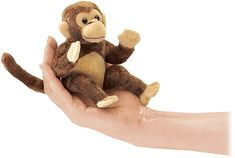 Barefoot Books, Monkey Finger Puppet -- Keep an eye on the bananas - this Monkey is nimble-fingered!