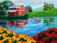 Image result for bright color landscape painting