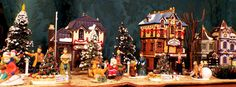 https://flic.kr/p/pmDVGK   Christmas Village   Wide-View of Christmas Village showing the Canterbury Christmas Store, Post Office and Row Houses.