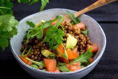 Linssisalaatti | Resepti touchoftaste.fi Cantaloupe, Beans, Mat, Vegetables, Fruit, Food, Essen, Vegetable Recipes, Meals