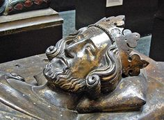 The Westminster Abbey tomb sculpture of Henry III in the V & A Museum, London