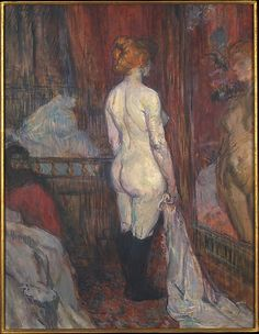 Henri de Toulouse Lautrec, Woman before a Mirror, 1897