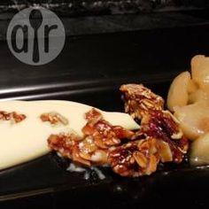 Pear and peach compôte with pecan granola brittle @ allrecipes.co.uk