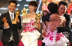 Roger Kwok and Charmaine Sheh win My Favorite Actor and My Favorite Actress at the TVB Star Awards Malaysia 2014.
