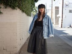Newest Post {LEATHER MIDI}  www.bambisarmoire.com  #fashion #blogger #style #streetstyle
