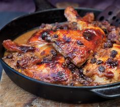 Baked Chicken with Cranberry Glaze