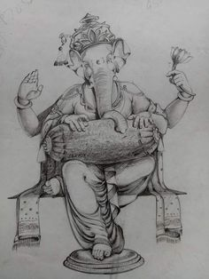 Ganesha Sketch, Ganesha Drawing, Lord Ganesha Paintings, Ganesha Art, Ganesh Photo, Ganesh Wallpaper, Ganesh Images, Lord Vishnu Wallpapers, Lord Murugan